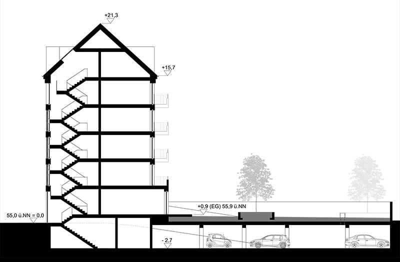 Wohnprojekt mit stadtteilparken velberstra e 4 hannover for Architektur rampe